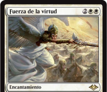 【モダンホライゾン】~の力(Force of XXX)サイクルより白のカードが公開!白白2で自軍クリーチャーを+1/+1する瞬速持ちエンチャント!相手ターンなら手札の白カードを代替コストにできる!