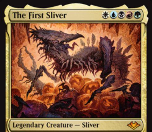 【モダンホライゾン】伝説神話スリヴァー「The First Sliver」が公開!全色5マナで7/7続唱&すべてのスリヴァー呪文に続唱を付与!