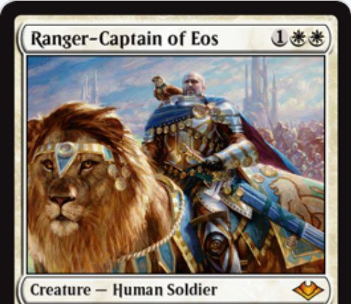 【モダンホライゾン】白神話の人間騎士「Ranger-Captain of Eos」が公開!《イーオスのレインジャー》のモダン・リメイク!