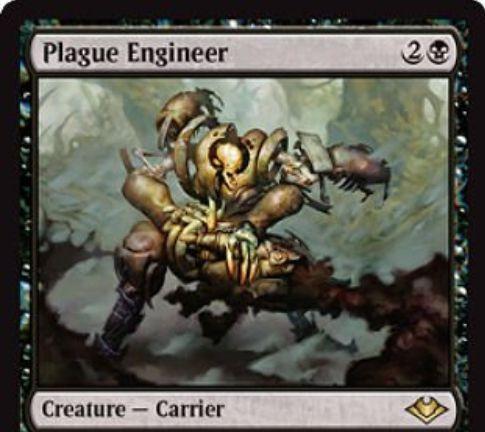 【モダンホライゾン】黒レアのキャリアー「Plague Engineer」が公開!3マナ2/2接死&ウルザズ・レガシー《仕組まれた疫病》を内臓!