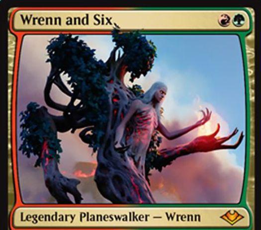 【モダンホライゾン】赤緑の新PW「Wrenn and Six」が公開!2マナの小回りの利く「Wrenn」の名を持つプレインズウォーカー!