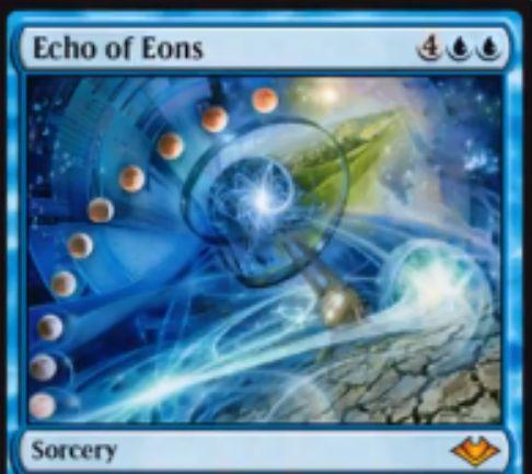 【モダンホライゾン】青神話ソーサリー「Echo of Eons」が公開!青青4にコストが増えたが、唱えても追放されず青2でフラッシュバックできる《時の逆転》!