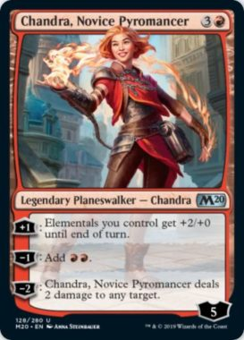 Chandra, Novice Pyromancer(基本セット2020)