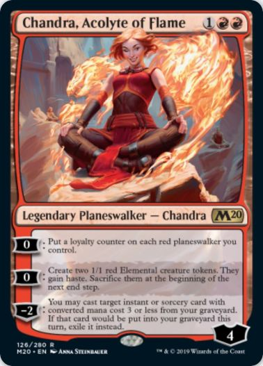 Chandra, Acolyte of Flame(MTG「基本セット2020」収録)