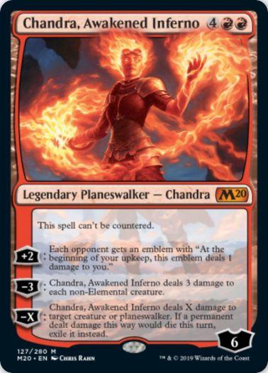 Chandra, Awakened Inferno(MTG「基本セット2020」収録)