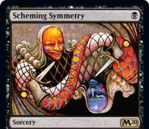 【基本セット2020】黒レアのソーサリー「Scheming Symmetry」が公開!2人のプレイヤーがライブラリーから好きな1枚をデッキトップにおける《吸血の教示者》亜種!