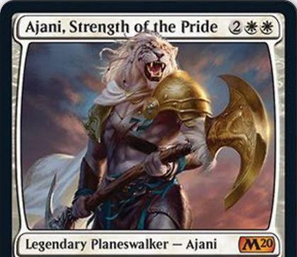 【基本セット2020】白神話PW「Ajani, Strength of the Pride」が公開!