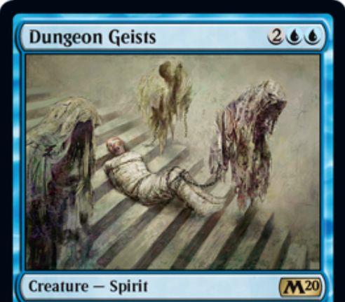 【基本セット2020】地下牢の霊(Dungeon Geists)が再録決定!ETBでクリーチャー1体をタップ&そのクリーチャーのアンタップを阻害!