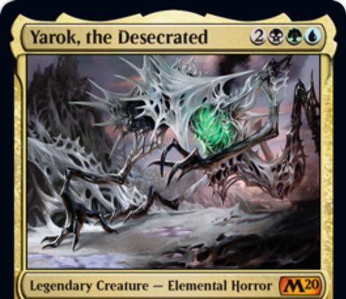 【基本セット2020】スゥルタイ色の伝説神話エレメンタルホラー「Yarok, the Desecrated」が公開!5マナ3/5接死・絆魂&パーマネントが戦場に出たことで誘発する能力を追加で1回誘発させる!