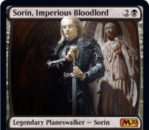 【基本セット2020】新ソリン「Sorin, Imperious Bloodlord」が公開!吸血鬼関連の3種能力を備える黒単の「ソリン」プレインズウォーカー