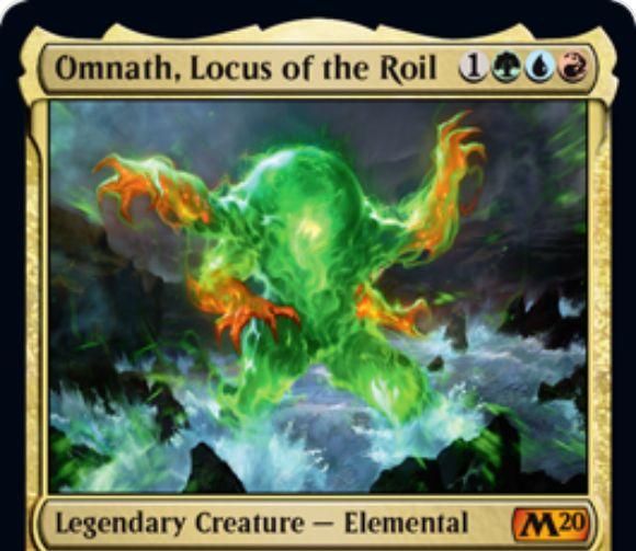 【基本セット2020】ティムール色の新オムナス「Omnath, Locus of the Roil」が公開!エレメンタル関連の2つの能力を備える伝説神話エレメンタル!