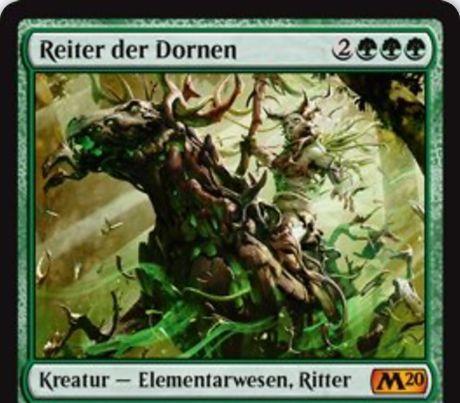 【基本セット2020】緑神話のエレメンタル騎士が公開!5マナ5/6到達&ETBでライブラリートップ5枚の中から土地をアンタップインし、PIGで墓地の好きなカード1枚をライブラリートップに置ける!