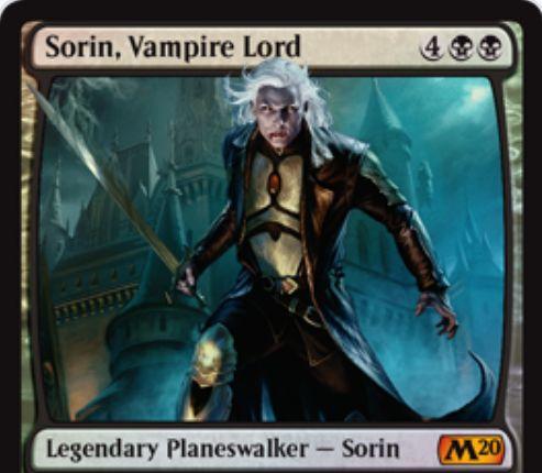 【基本セット2020】PWデッキ収録の新ソリン「Sorin, Vampire Lord」が公開!