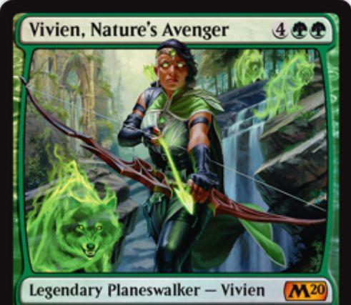【基本セット2020】PWデッキ限定収録のビビアン「Vivien, Nature's Avenger」が公開!