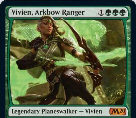 【基本セット2020】新ビビアン「Vivien, Arkbow Ranger」が公開!神話レアの「ビビアン」プレインズウォーカー!