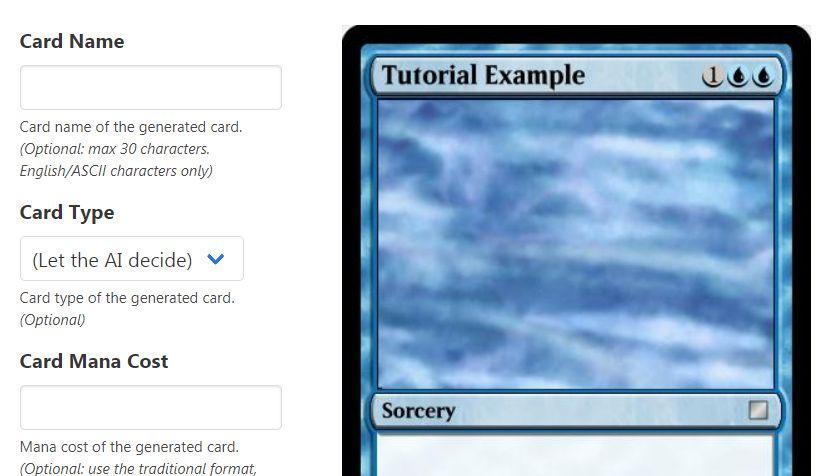 【Magic AI】人工知能があなただけのMTGカードを自動生成するWebアプリが登場!