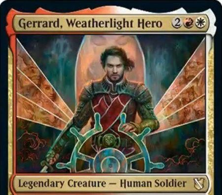 【統率者2019】赤白の新ジェラード「Gerrard, Weatherlight Hero」が公開!4マナ3/3先制攻撃&死亡時に、ターン中に墓地に置かれたすべてアーティファクトとクリーチャーを戦場に戻す伝説の人間兵士!