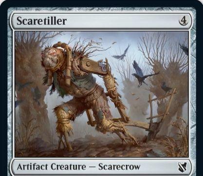 【統率者2019】コモンのカカシ「Scaretiller」が公開!4マナ1/4&自身がタップ状態になるたびに、手札か墓地から土地カードを戦場へタップイン!
