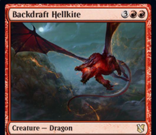 【統率者2019】赤レアのドラゴン「Backdraft Hellkite」が公開!5マナ4/4飛行&攻撃すると、自墓地のインスタントとソーサリーにフラッシュバックを付与!