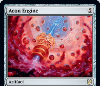 【統率者2019】レアのアーティファクト「Aeon Engine」が公開!5マナでタップイン&タップ・生贄でターンの順番を逆行させる!