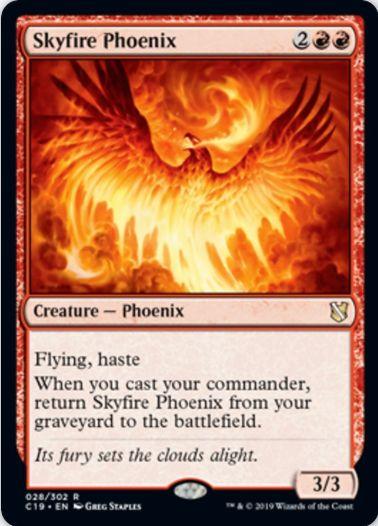 Skyfire Phoenix(統率者2019)