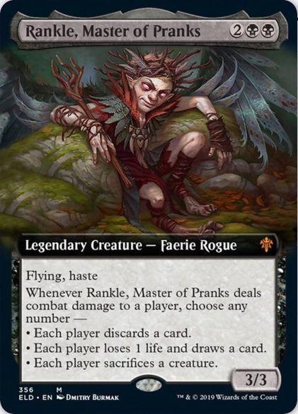 Rankle, Master of Pranks(エルドレインの王権 拡張アート)