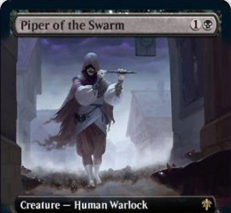 【エルドレインの王権】黒のWarlock人間「Piper of the Swarm」が公開!ネズミ関連の3種能力を備えるネズミ使い!