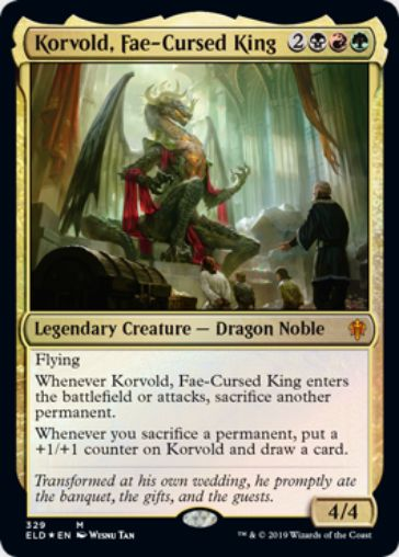 【MTGデッキ】《フェイに呪われた王、コルヴォルド(Korvold, Fae-Cursed King)》の採用デッキレシピ情報まとめ