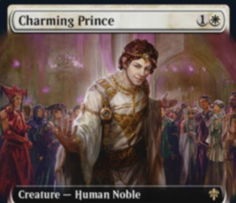 【エルドレインの王権】白レアの人間貴族「Charming Prince」が公開!2/2&ETBで「占術2」か「3点ライフゲイン」か「自軍の他生物を明滅」かを選べる!