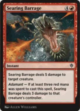 Searing Barrage(エルドレインの王権)