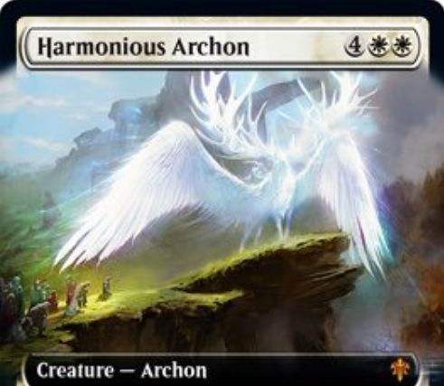 【エルドレインの王権】白神話の執政官「Harmonious Archon」が公開!4/5飛行&執政官以外のP/Tを3にする&ETBで1/1の白人間トークンを2体生成!