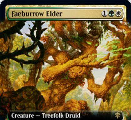 【エルドレインの王権】緑白レアのツリーフォーク・ドルイド「Faeburrow Elder」が公開!自軍パーマネントの色の数だけP/T上昇&警戒&タップで自軍パーマネントが持つ色の数だけその色のマナを生産!