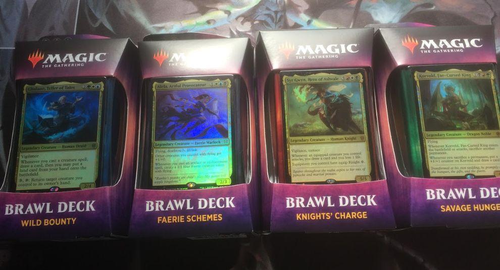 エルドレインの王権「Brawl Deck」を開封!ブロール用の構築済みデッキ&ライフ盤&デッキケースがセットに!限定カードも多数収録!