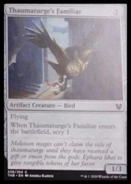 (Thaumaturge's Familiar):MTG「テーロス還魂記」非公式スポイラーより
