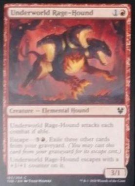 (Underworld Rage-Hound):MTG「テーロス還魂記」非公式スポイラーより