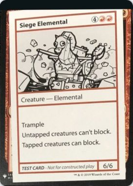 Siege Elemental | Mystery Booster(ミステリーブースター)収録カード