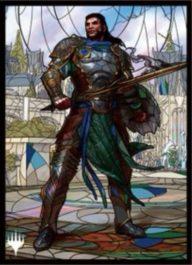 スリーブ・黒き剣のギデオン(エンスカイ「灯争大戦」ステンドグラスアート)