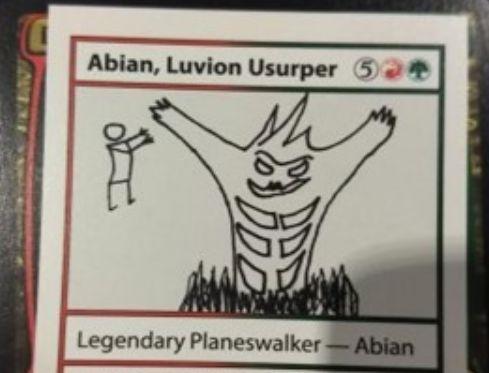 【俺自身がPWになる事だ】ミステリーブースター収録の《Abian, Luvion Usurper》のコンセプトが面白い!あなた自身を「Abian」という名前のプレインズウォーカーに変える《ドラゴン変化》の亜種カード!