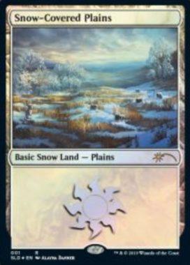 Snow-Covered Plains:Secret Lair「Eldraine Wonderland」収録