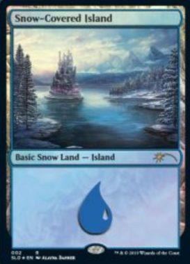 Snow-Covered Island:Secret Lair「Eldraine Wonderland」収録