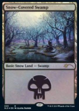 Snow-Covered Swamp:Secret Lair「Eldraine Wonderland」収録