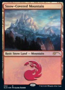 Snow-Covered Mountain:Secret Lair「Eldraine Wonderland」収録