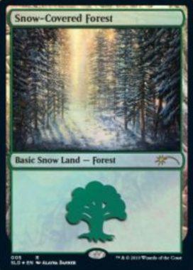 Snow-Covered Forest:Secret Lair「Eldraine Wonderland」収録