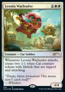 Leonin Warleader:Secret Lair「OMG KITTIES!」収録