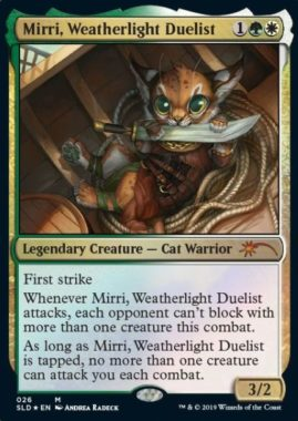 Mirri, Weatherlight Duelist:Secret Lair「OMG KITTIES!」収録