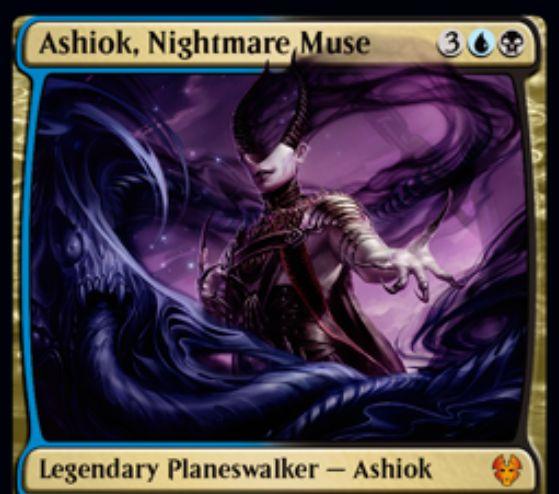 【テーロス還魂記】新アショク「Ashiok, Nightmare Muse」が公開!追放領域を操る青黒プレインズウォーカー!
