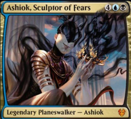 【テーロス還魂記】PWデッキ版アショク「Ashiok, Sculptor of Fears」が公開!