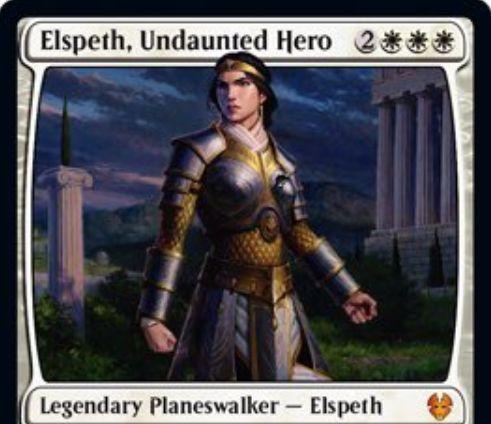 【テーロス還魂記】PWデッキ版エルズペス「Elspeth, Undaunted Hero」が公開!