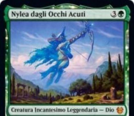 【Nylea】MTG「テーロス還魂記」に収録される緑神話の伝説エンチャント神「ナイレア」が公開!