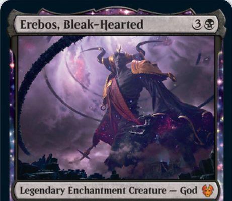 【Erebos, Bleak-Hearted】MTG「テーロス還魂記」に収録される黒神話の伝説エンチャント神「エレボス」が公開!
